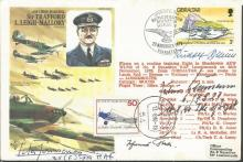RAF/Luftwaffe Battle of Britain signed cover. Hist