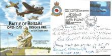 WW2 VIPs signed Biggin Hill cover. Superb Battle o