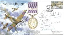 RAF/Luftwaffe Battle of Britain signed cover. 2000
