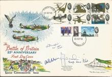 Battle of Britain veterans signed cover. Lovely ex