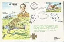 Battle of Britain veterans signed cover. Fred West