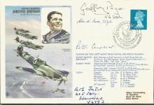 Battle of Britain veterans signed cover. Johnnie J