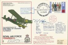 Battle of Britain veteran Dennis Adams signed cove