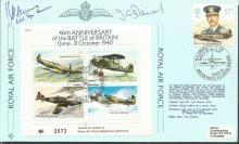 Battle of Britain veteran John Fleming signed cove
