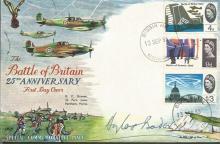 Battle of Britain veteran Douglas Bader signed cov