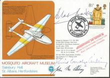 Battle of Britain legends signed cover. Mosquito A