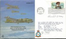 Gen Curtis Le May signed Bomber Command cover B32,