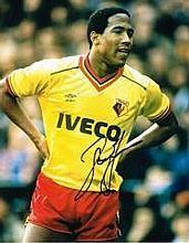 John Barnes Signed Watford 10 X 8 Good condition.