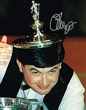 John Parrott Snooker Player Signed 10 X 8 Good con