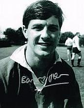 Barry John Welsh Rugby Legend Signed 10 X 8 Good c