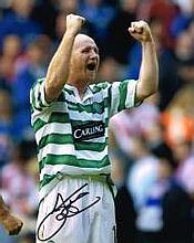 John Hartson Celtic Fc Signed 10 X 8 Good conditio