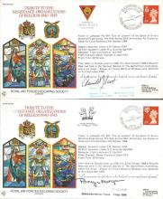 World War Two Escapers Collection. Seven special signed variations of the 1