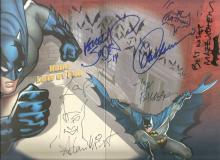 Batman Birthday Card signed inside by Adam West and illustrators inc David