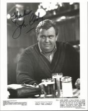 John Candy autographed photograph. Rare black and white 8x10 photo from Onl