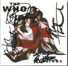 The Who autographed CD. CD of the BBC Sessions by legendary rock act The Wh