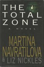 Martina Navratilova signed The Total Zone novel. Signed on the inside title