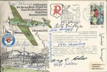 Rare Multisigned Luftwaffe cover. This cover is Rossbach modified GERMAN Ve