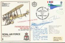 Rare Concorde flown and signed Cover. RAF Upavon 1970 SC 1 . Flown on Conco