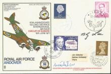 RAF Andover cover signed by two pilots, scarce variety with UK, Belgian, Fr