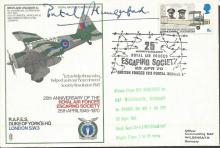 RAF Escaping Society Duke of Yorks Westland Laysander cover SC 28c  signed