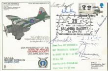 RAF Escaping Society Duke of Yorks Westland Laysander cover SC 28d signed b