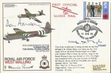RAF West Malling Horsa Glider cover SC 33d signed by SIR DERMONT BOYLE and