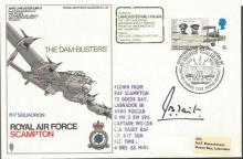 RAF Scampton Dambuster Avro Lancaster cover SC 36d signed by Gp. Cpt. J.B.