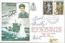T.M. BULLOCH and Admiral KARL DÖNITZ signed on Bullochs own Historic Aviato