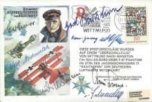 Luftwaffe Multisigned cover RAFM HA (SP)1 Special by Hans Rossbach signed b