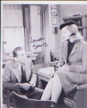 Lauren Bacall. 10x8 picture. Good condition. All signed items come with a C