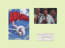 Airplane - Robert Stack. Signature of Robert Stack mounted with two picture