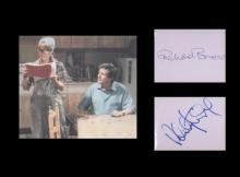 Good Life. Signatures of Richard Briers and Felicity Kendal with picture fr