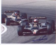 Mario Andretti. 10x8 picture racing in F1 car. Excellent. Good condition. A
