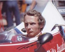 Niki Lauda. 10x8 picture in Formula 1 car. Excellent. Good condition. All s