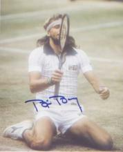 Bjorn Borg. 10x8 picture following his fifth victory at Wimbledon. Good con