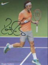 Roger Federer. P/C sized picture of the Tennis ace. Good condition. All sig