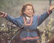 Willow - Warwick Davis. 10x8 picture in character as Willow. Good condition