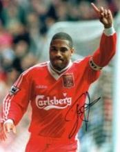 John Barnes Liverpool 10 X 8 Good condition. All signed items come with a C