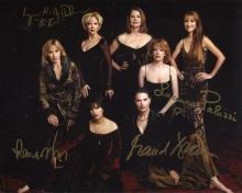 James Bond multi-signed: 8x10 inch photo signed by Bond girls Maud Adams,