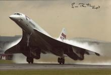 Concorde: 8x12 inch photo signed by Captain Neil Britton signed by Concord