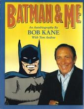 Batman and Me inscription and drawing by Bob Kane