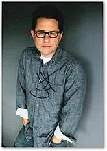 """10"""" by 8"""" photo of Star Trek and Star Wars: The Force Awakens director, JJ Abrams. Image depicts a casually dressed Abrams with his hands in his pockets, and is signed in black ink by the man himself Good condition"""