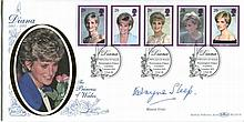 Wayne Sleep: Benham BLCS138 Diana Princess of Wales FDC (1998) signed by dancer Wayne Sleep with whom Princess Diana famously danced and then became close friends with