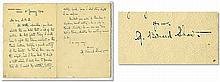 Autograph letter signed by George Bernard Shaw as