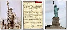Frederic Auguste Bartholdi (1834-1904 was a French sculptor famous for designing The Statue of Liberty. Autograph letter signed (
