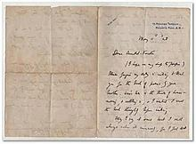 Letter from the poet Alfred Noyes addressed to William Arnold-Forster, dated May 11th 1928, thanking him for the book of poems of his brother, Mervyn Arnold-Forster Famous for 'The Highway Man' Good condition