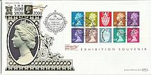 The Stamp Show 2000 exhibition souvenir Benham 22ct gold FDC with Earls Court London SW5 postmark. Catalogues at £20+. Good condition