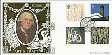 Art & Craft May 2000 official Benham 22ct gold FDC with Burslem postmark. Catalogues at £20+. Good condition