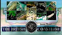 Babs Powell signed Benham official Coin FDC 2003 C0298S Coastlines. Good condition