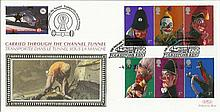 2001 Punch & Judy Benham Channel official Tunnel FDC with £1 Railway letter stamp & Historic Channel Tunnel postmark. Carried through the tunnel with special cachet. Good condition